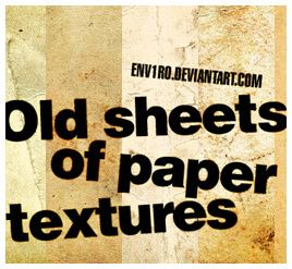 Old  Sheets Paper